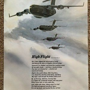 McDonnell Douglas High Flight Poster Military Tran